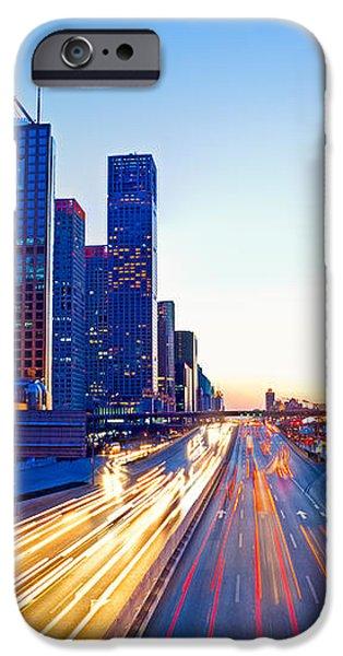 Beijing Skyline at night iPhone Case by Fototrav Print