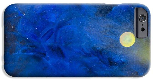 Deep Space Art Paintings iPhone Cases - Being Watched iPhone Case by Debra Breton