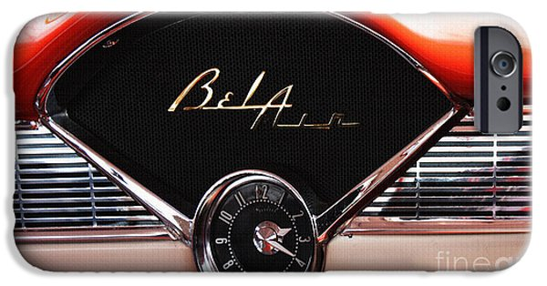 Shower Head iPhone Cases - Bel Air Beauty - Vintage American Car in Red and Chrome iPhone Case by ArtyZen Studios - ArtyZen Home