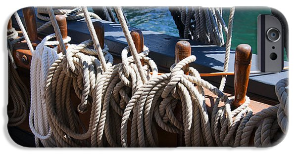 Tall Ship iPhone Cases - Belaying Pins iPhone Case by Brenda Kean