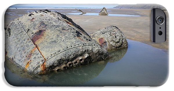 Wwi iPhone Cases - Belem Shipwreck Cornwall iPhone Case by Richard Brookes