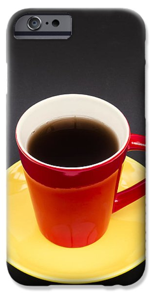 Flag Colors iPhone Cases - Belgian Cup of Coffee iPhone Case by Wim Lanclus