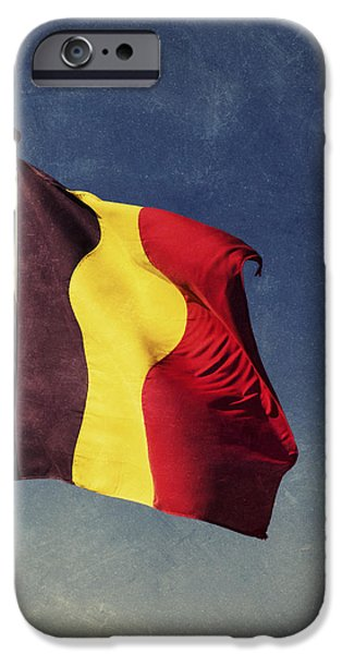 Nation iPhone Cases - Belgian Flag iPhone Case by Wim Lanclus