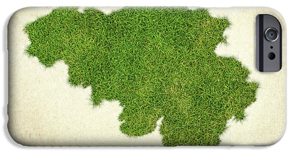 Waste Water iPhone Cases - Belgium Grass Map iPhone Case by Aged Pixel