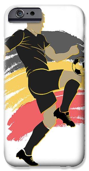 Belgium iPhone Cases - Belgium Soccer Player iPhone Case by Joe Hamilton