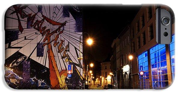Belgian Comic Strip Art iPhone Cases - Belgium Street Art iPhone Case by Juli Scalzi
