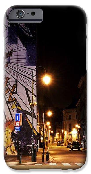 Belgium Street Art iPhone Case by Juli Scalzi
