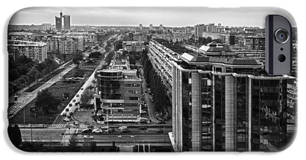 Belgrade iPhone Cases - Belgrade Cityscape iPhone Case by Mountain Dreams