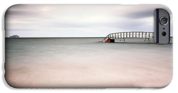 North Sea iPhone Cases - Belhaven Bay iPhone Case by Grant Glendinning