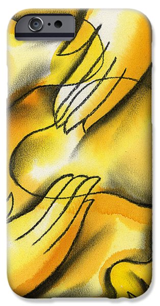 Bonding Paintings iPhone Cases - Belief iPhone Case by Leon Zernitsky