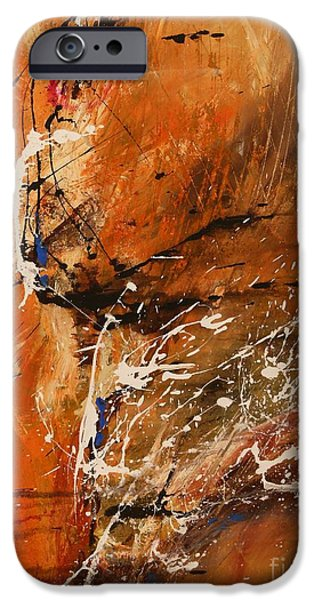 Ismeta iPhone Cases - Believe in Dreams - Abstract Art iPhone Case by Ismeta Gruenwald