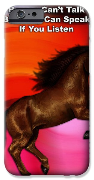 Horse iPhone Cases - Believe iPhone Case by Marvin Blaine