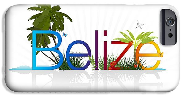 Reptiles Drawings iPhone Cases - Belize iPhone Case by Aged Pixel