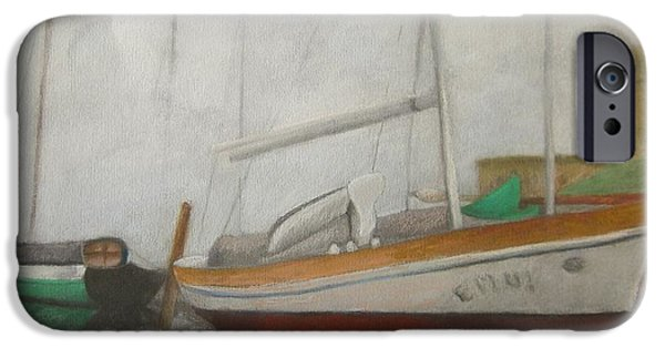Sailboats Pastels iPhone Cases - Belize Boats iPhone Case by Marilyn Mull