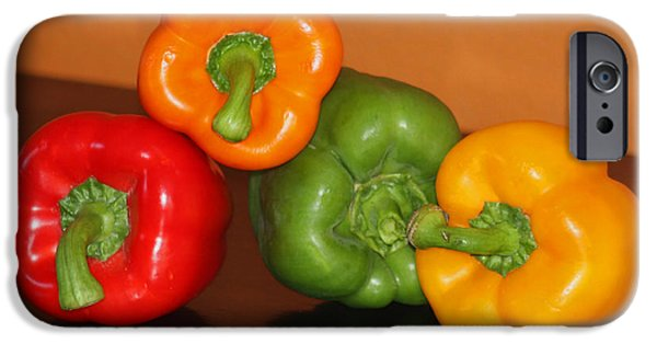 Reflection Harvest iPhone Cases - Bell Pepper Still Life iPhone Case by Art Block Collections