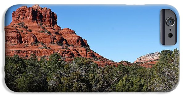 Red Rock iPhone Cases - Bell Rock iPhone Case by Bruce Bley