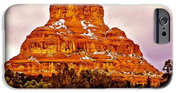 Oak Creek Digital Art iPhone Cases - Bell Rock Sedona Az iPhone Case by  Bob and Nadine Johnston
