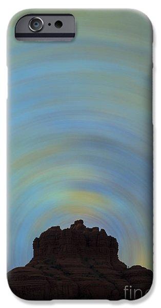 Radiating Light iPhone Cases - Bell Rock Vortex No. 2 iPhone Case by David Gordon