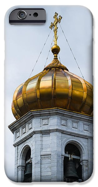 Russian Cross iPhone Cases - Bell Tower - Featured 2 iPhone Case by Alexander Senin