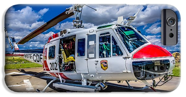 Wildfire iPhone Cases - Bell UH-1Super Huey Close-up iPhone Case by Scott McGuire