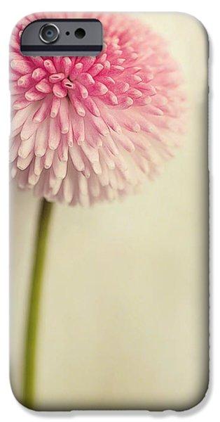 Texture Floral iPhone Cases - Bella Bellis iPhone Case by Priska Wettstein