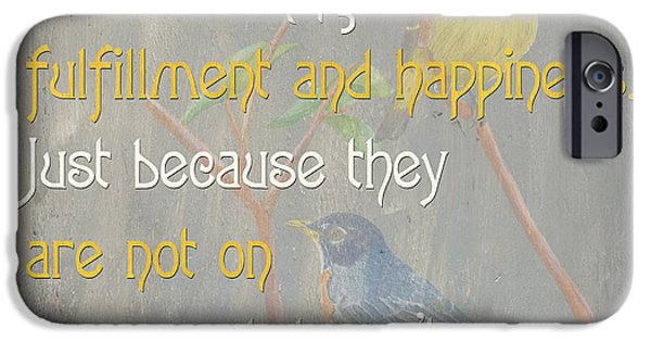 Flight Paintings iPhone Cases - Bella Bird 1 iPhone Case by Debbie DeWitt