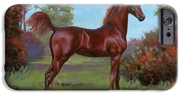 American Saddlebred iPhone Cases - Bella iPhone Case by Jeanne Newton Schoborg