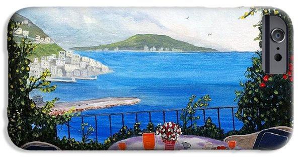 Sicily Paintings iPhone Cases - Bella Sicilia iPhone Case by Rich Fotia