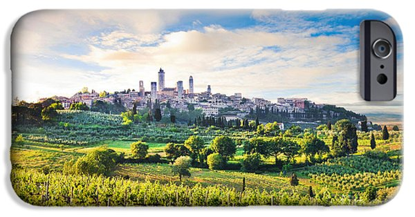 Tuscan Sunset iPhone Cases - Bella Toscana iPhone Case by JR Photography