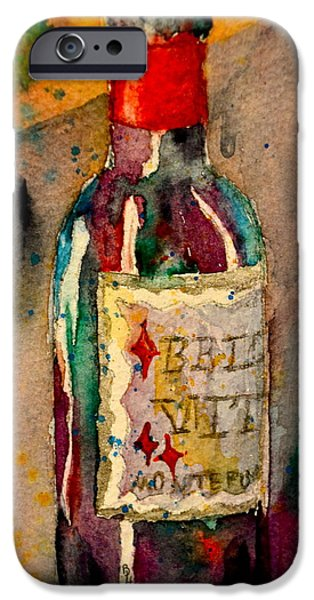 Italian Wine Paintings iPhone Cases - Bella Vita iPhone Case by Beverley Harper Tinsley
