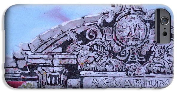 Architecture Tapestries - Textiles iPhone Cases - Belle Isle Aquarium iPhone Case by Kate Ford