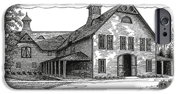Best Sellers -  - Janet King iPhone Cases - Belle Meade Plantation Carriage House iPhone Case by Janet King