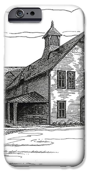 Belle Meade Plantation Carriage House iPhone Case by Janet King