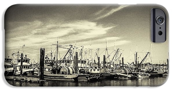 Grimaud iPhone Cases - Bellingham Fishing Fleet iPhone Case by Arne Hansen