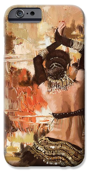 Moroccan iPhone Cases - Belly Dancer Back iPhone Case by Corporate Art Task Force