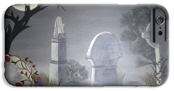 Headstones Paintings iPhone Cases - Beloved iPhone Case by Ann LaMar