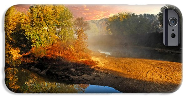 Creek iPhone Cases - Below the falls Cataract iPhone Case by Randall Branham