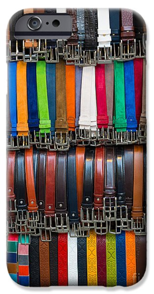 Vendor iPhone Cases - Belts Galore iPhone Case by Inge Johnsson