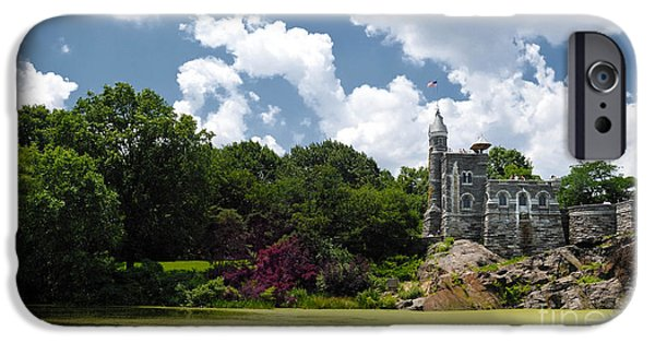 Algae Photographs iPhone Cases - Belvedere Castle Turtle Pond Central Park iPhone Case by Amy Cicconi