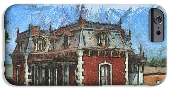Historic Site Drawings iPhone Cases - Ben Ferrel Museum  iPhone Case by Liane Wright