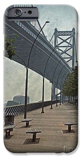 Ben Franklin Bridge and Pier iPhone Case by Tom Gari Gallery-Three-Photography