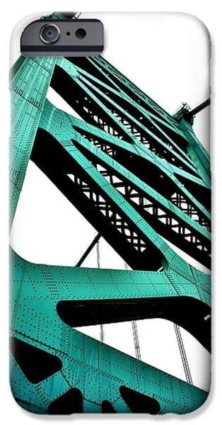 Franklin iPhone Cases - Ben Franklin Bridge iPhone Case by Benjamin Yeager