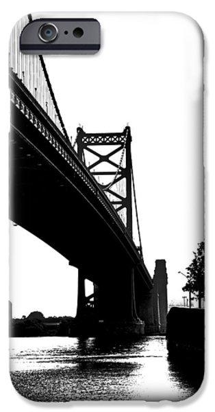 Franklin iPhone Cases - Ben Franklin Bridge iPhone Case by Tom Gari Gallery-Three-Photography