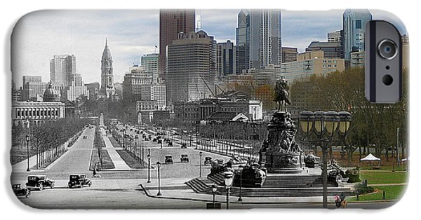 Ben Franklin iPhone Cases - Ben Franklin Parkway iPhone Case by Eric Nagy