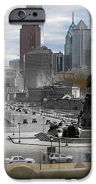 Ben Franklin Parkway iPhone Case by Eric Nagy