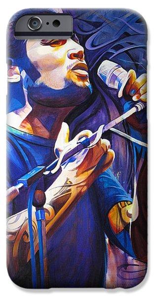 Ben Harper and Mic iPhone Case by Joshua Morton