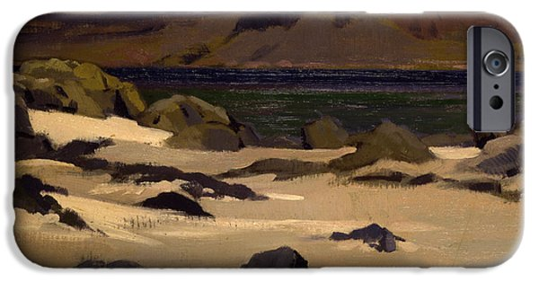 Colorist iPhone Cases - Ben More from Cows Rock iPhone Case by Francis Campbell Boileau Cadell