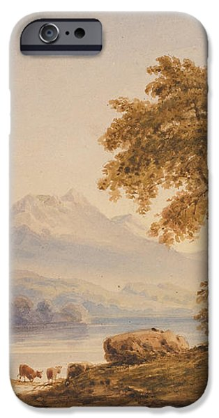 Ben Vorlich and Loch Lomond iPhone Case by Anthony Vandyke Copley Fielding