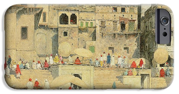 Reflecting iPhone Cases - Benares iPhone Case by Mortimer Ludington Menpes