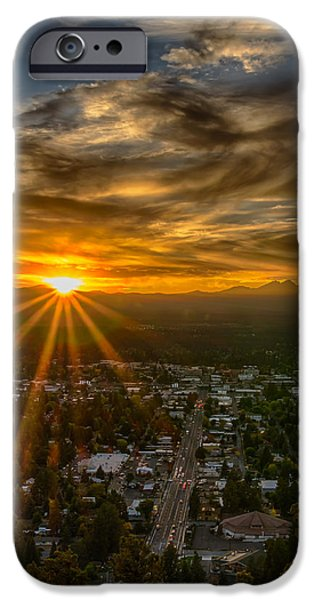 Sunset iPhone Cases - Bend Oregon sunset iPhone Case by Exquisite Oregon